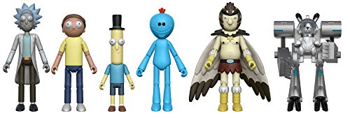 """Rick and Morty 5"""" Action Figures Set of 5 (+Snowball)"""