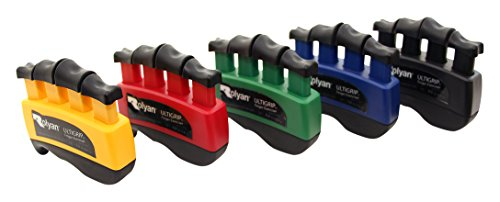 Rolyan - 48251 Ultigrip Finger Exercisers, Set of 5 with Display, Finger & Grip Strengthener for Physical Therapy, Ergonomic Hand Workout Aid, Portable Hand Exerciser for Home, Clinic, Rehabilitation