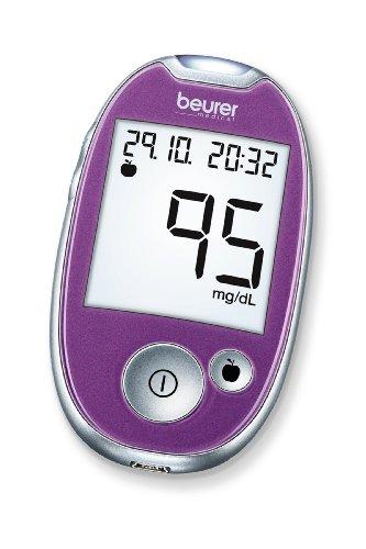 Beurer GL 44 Misuratore di Glicemia (mg dl), Display XL, Viola