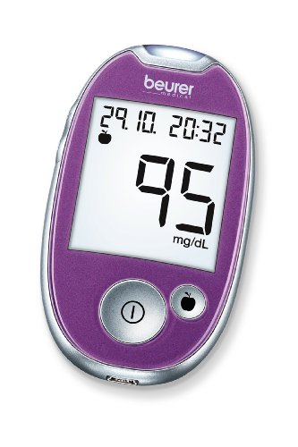 Beurer GL 44 Misuratore di Glicemia (mg/dl), Display XL, Viola