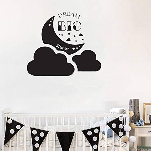 Tianpengyuanshuai Muurtattoo, voor babytuin, kinderkamer, zelfklevend, droommotief, vinyl, afneembaar