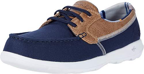 Skechers GO Walk Lite, Zapatillas Mujer, Azul Marino Ribete Textil Nvy, 38 EU