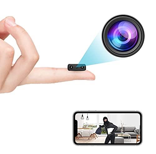 小型wifi無線カメラ、小型軽量のミニカメラです、1080P超 ネットワークミニカメラ 、家庭用無線ベビーモカメラ対応、wifi防犯カメラ、録画録画動的検知暗視機能クラウドストレージ、日本語の説明書 …