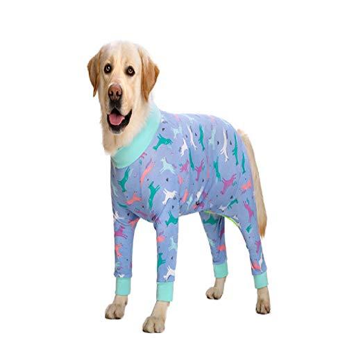 IUOU Pigiama per Cani di Taglia Media per Cani da Compagnia Abbigliamento Tuta perCostume daCaneCappotto per Cani Camicia di Abbigliamento Stampata a Cartoni Animati Ropa Perro