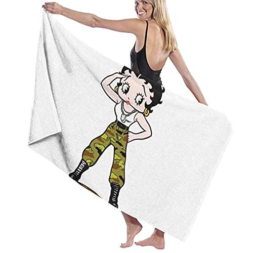 IUBBKI Negro B-e-t-t-y Boop (2) Toalla de baño súper Suave Natación Toalla de SPA Ducha Camping Yoga Toalla de Playa de Arena Tamaño Personalizado 31x51 Pulgadas