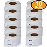 BETCKEY - Compatible DYMO 30333 (1/2' x 1') Extra Small 2-Up Multipurpose Labels - Compatible with Rollo, DYMO Labelwriter 450, 4XL & Zebra Desktop Printers[10 Rolls/10000 Labels]