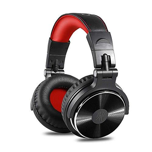 SFBBBO Auriculares Gaming Auriculares Profesionales para DJ con micrófono sobre la Oreja,...