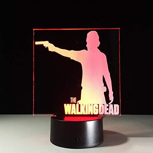 DDBBhome Die Walking Dead 3D Dekor Nachtlicht Led 7 Farben Ändern Schreibtischlampe 3D Neuheit Nachtlicht Für Kinder Geschenke