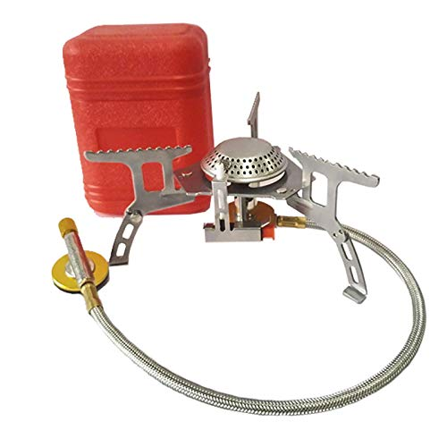 Estufa de gas al aire libre Camping quemador de gas plegable Estufa electrónica de senderismo portátil plegable Split Estufas 3000W GASSTOVE