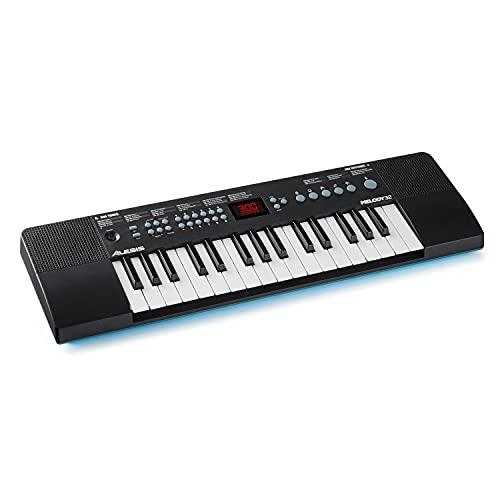 Alesis Melody 32 – Pianola Portatile Mini Tastiera Musicale a 32 tasti con casse integrate, 300 suoni, 40 brani dimostrativi e connettività USB-MIDI