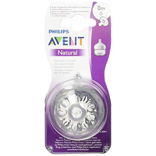 Philips Avent Natural - tettarella per biberon con sistema anti-colica, colore: trasparente