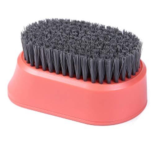 Cepillo Duradero para Limpieza del hogar Cepillo Multifuncional para lavandería de cerdas Suaves (Naranja)
