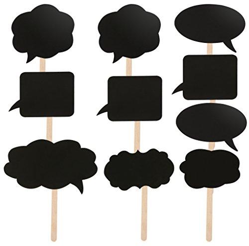 TRIXES 10 Différents Tableaux en Cartons Bulles de Messages Bricolage