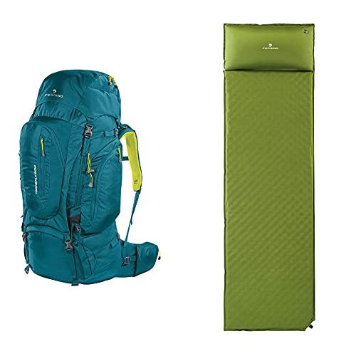 Ferrino Transalp, Zaino Da Hiking Ed Escursionismo Unisex, Verde, 60 L & Dream, Materassino Da Campeggio Verde, 180X51X3,5 Cm