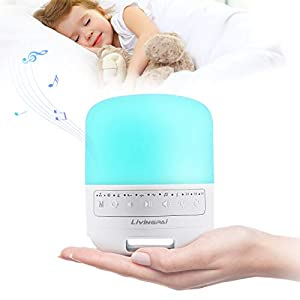 Sound Machine, LiviNGPAi White Noise Machine with Adjustable Baby Night Light for Sleeping, 35 Hi-Fi Natural Soothing Sounds & Timer, Sleep Therapy for Baby, Toddlers, Adults, Home and Office