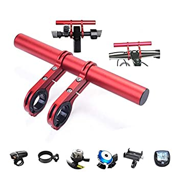 Tinke Handlebar Extender Bicycle Aluminum Alloy Bracket Extension Double Handlebar Extension Mount Holder Use Compatible for XIAOMI M365/Pro 1S Ninebot and Mountain Bicycle