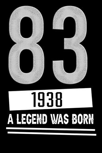 83, 1938 a Legend Was Born: Liebevolle Glückwunschkarte Geburtstag 83 Jahre einzigartig Geburtstagskarte Nummer 83 Geschenkkarte zum Geburtstag