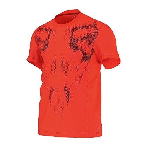 adidas, Maglietta a Maniche Corte Uomo F50 ClimaLite, Arancione (Solar Red), XL