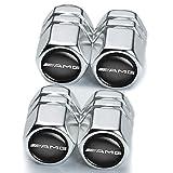 AMG Car Wheel Tire Air Valve Caps Stem Cover (4 Pcs) for Mercedes Benz AMG...