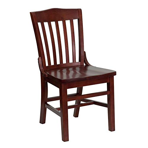 Price comparison product image Flash Furniture HERCULES Series School House Back Mahogany Wood Restaurant Chair
