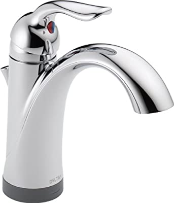 Delta Faucet Lahara Single-Handle Bathroom Faucet with Diamond Seal Technology and Drain Assembly, Chrome 538T-DST