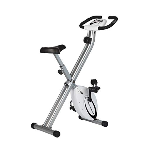 Ultrasport Heimtrainer F-Bike Advanced,LCD-Display, klappbarer Hometrainer, verstellbare Widerstandsstufen, mit Handpulssensoren, faltbarer Fahrradtrainer, für Sportler und Senioren