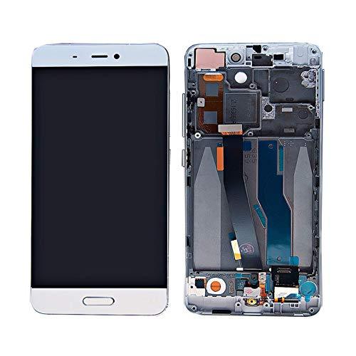Kit de accesorios original de 5.15 pulgadas para Xiaomi Mi 5 Mi5 LCD táctil digitalizador marco de montaje reemplazo para Xiaomi Mi 5 LCD pantalla táctil (color: negro sin marco) Replaceme