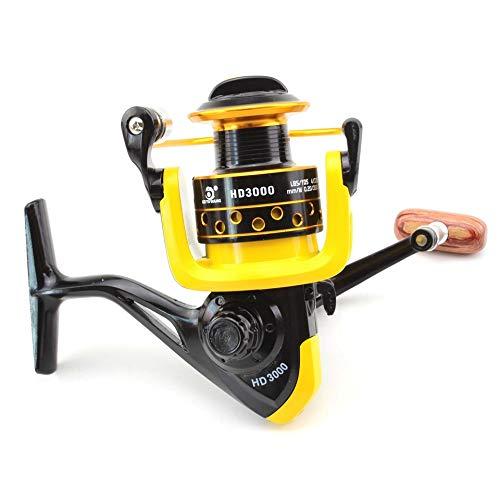 H/A Nuevo Alambre de Pesca de Hilado 12BB + 1 Bola de rodamiento 1000-7000 Series Metal Bobina Bobina Reel Bote Rueda de Pesca Tackl HUANH (Color : 4000 Series, Size : 12)