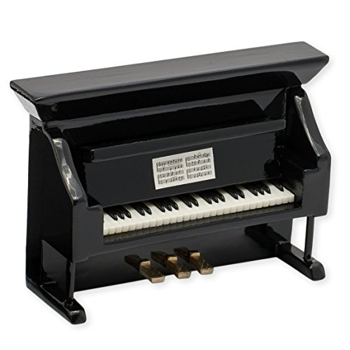 Black Upright Piano Miniature Replica Magnet, Size 3 inch by Broadway Gift