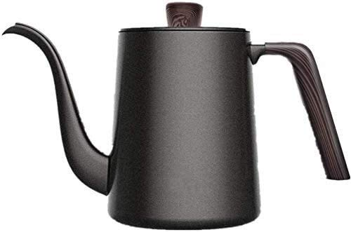 Coffee Kettle Stainless Coffee Kettle Drip Over Coffee Kettle Tea Filter Gooseneck with Wooden Handle Cream Milk Jugs (Color : Black, Size : One Size) (Color : Black, Size : One Size) AIMEE