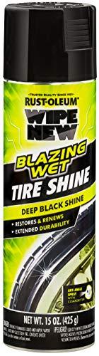 Wipe New 365324 Blazing Wet Tire Shine, 15 oz, Black