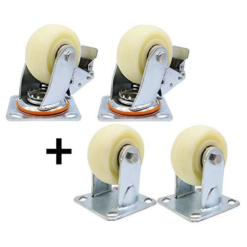 F- Universele wielrem van duurzaam nylon, 4 stuks, geschikt voor een breed palet.