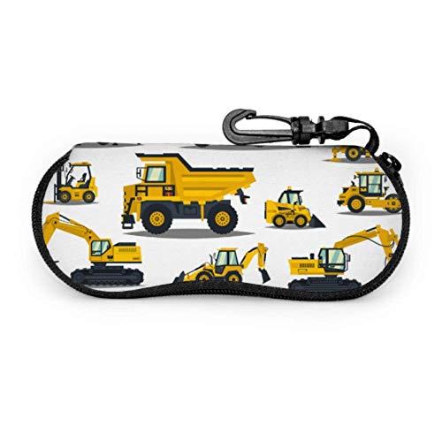 Arvolas Carretilla elevadora, grúa, excavadora, tractor, excavadora, camión maletín para gafas de sol Estuche para gafas de sol Estuche para gafas de sol con cremallera para hombre