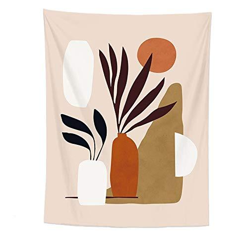 KHKJ Tapiz Colgante de Pared de Personalidad nórdica Paisaje de Arte Abstracto Mujer Revestimiento de Pared Tapiz Manta decoración de Dormitorio A21 200x150cm