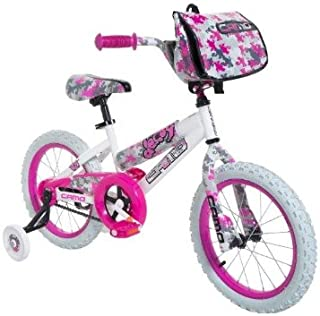 Dynacraft 8054-65TJ Decoy Girls Camo Bike, 16-Inch, White/Pink/Black