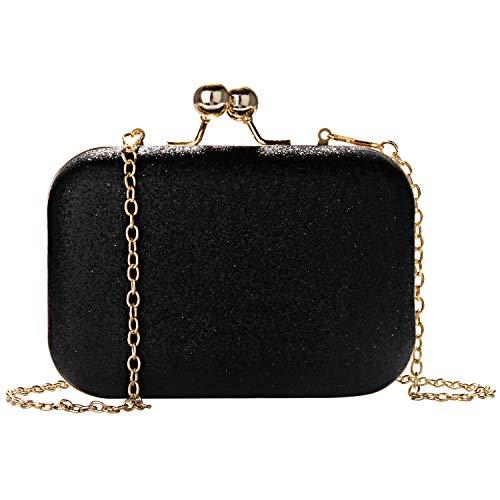 Wafly Bling Clutch Bags for Women Ladies Leather Mini Small Handbag Crossbody Shoulder Messenger Bag...
