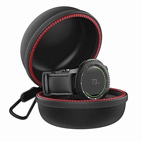 JIELIELE für Samsung Gear S3 Ladegerät Ständer, Tragetasche unterstützt Tasche Tragbar Charger Stand Frontier Ladestation Case kompatibel Samsung Gear S 3 (schwarz)