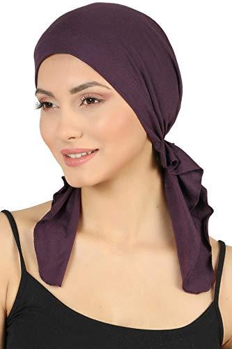 Deresina Vorgebunden Tücher der Baumwolle für Haarausfall, Krebs (Mulberry)