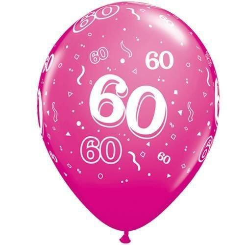 Leeftijd 60-A-Ronde 60e Verjaardag Wilde Bes Roze 11