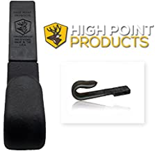 High Point Products Bow Holster for Belt; Archery Belt Bow Holder for Hunters and 3D Shooters; Attaches to Belt for Hands Free Ground Hunting (Black) (Wide and Narrow Grips Available)