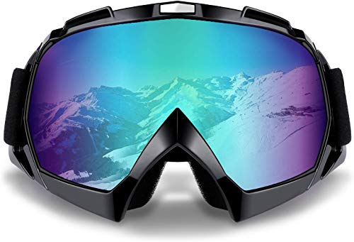 Carperipher Motorcycle Motocross Goggles, Windproof Dustproof ATV Off Road Bike Glasses for Men, Women & Youth Dirt Bike Riding, Cycling, Ski Snowboard Sports Outdoor Goggles