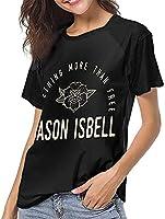 ジェイソンイスベルTシャツ女子野球半袖ノベルティスポーツTシャツファッション明るい旅行簡単-大