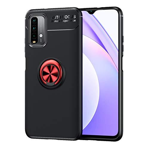 Carcasa de telefono Funda protectora para Xiaomi Redmi Note 9 4G (Nacional) Caja, para Xiaomi Redmi 9 Power Funda, para Xiaomi Redmi 9T Caso Soft TPU Funda a prueba de golpes 360 grados Rotating Metal
