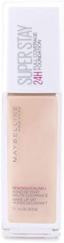 Maybelline SuperStay 24HR Full Coverage Liquid Foundation - Nude Beige 21