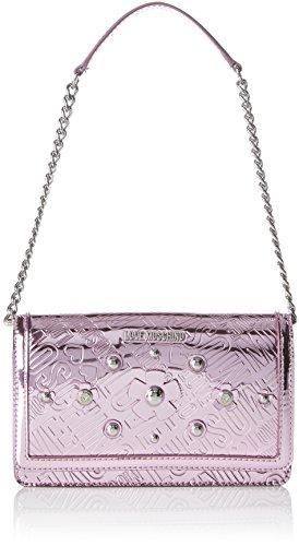 Love Moschino Borsa Embossed Tpu Rosa, Sacs portés épaule femme, Rose (Pink), 5x13x22 cm (B x H T)