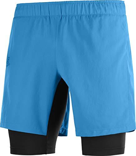 SALOMON Agile Twinskin Sr Pantalones Cortos Deportivos, Hombre, Azul (Vivid Blue), S