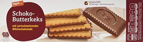 tegut... Schoko-Butterkeks, mit zartschmelzender Milchschokolade, 1 x 125 g