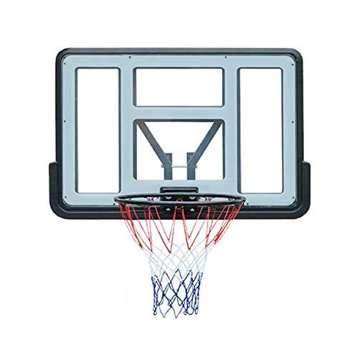 LYYJIAJU Aro Baloncesto Muro Montado Canasta de Baloncesto al Aire Libre montado en la Pared, Integrado Borde de retención, Volver Estructura de Soporte, 43.3 * 29.8 En