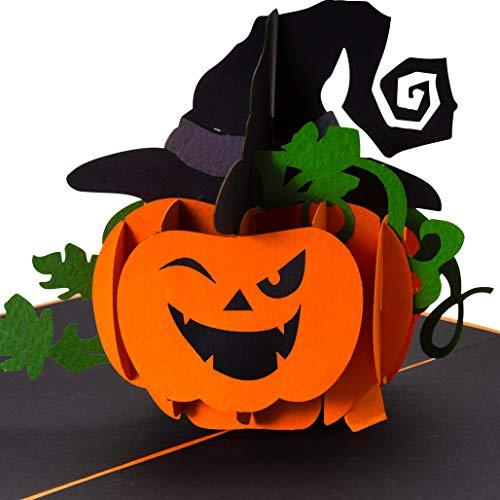 Halloween-pompoenen, 3D-pop-upkaart, originele party uitnodiging, Happy Halloween, griezelig, grappig, uitnodigingskaart