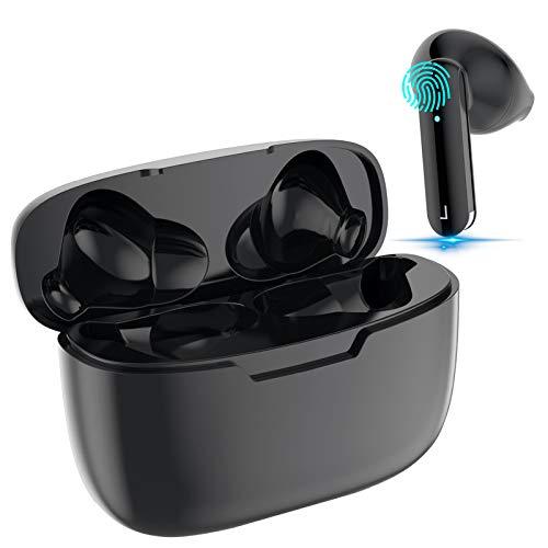 Auriculares Inalámbricos, Auriculares Bluetooth 5.0 Deportivos con Micrófono, Control Táctil, Reproducci 24 Horas, IPX7 Impermeable, In-Ear Cascos Bluetooth para Todos Android/iPhone/Samsung